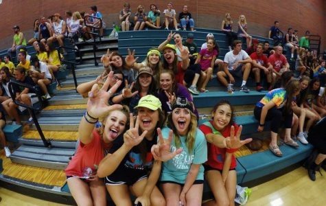Young Life club members share experiences about Christ, camp, and club