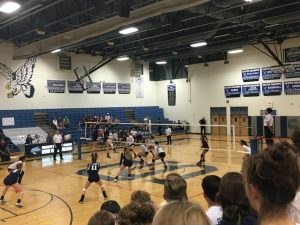 Varsity Volleyball wins state quarterfinals game
