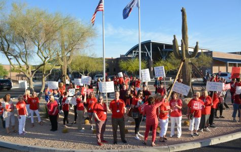 Cactus Shadows teachers protest low pay
