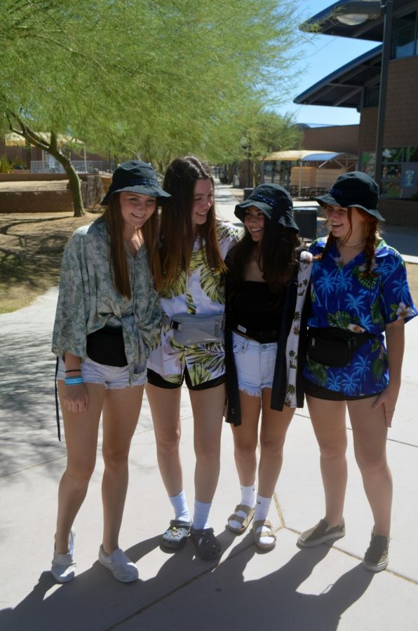Students participate in daily homecoming dress up days