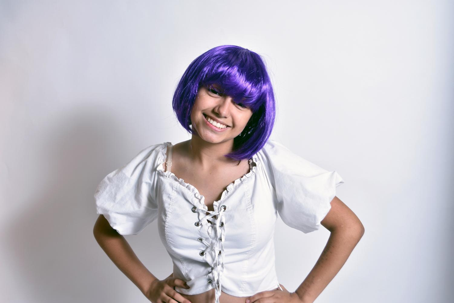 Melanie Matzen, a junior, dresses up as the fictional pop-star Ashley O, from the Black Mirror episode