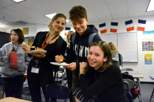 Visiting French students learn about American culture