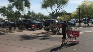 Customers flood Target, after Duecy's restrictions begin to lift.
