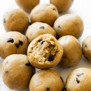 Find recipes like this one for cookie dough protein balls.